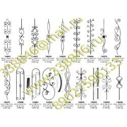 Кованые элементы орнамента из декоративного квадрата и полосы. Волюты, завитки для ковки и сборки кованых изделий