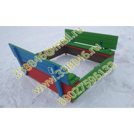 223.1 Песочница 1,5 х 1,5 с раздвижной крышкой