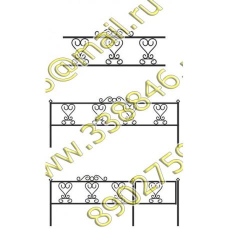 Ограда на могилу АМ5089