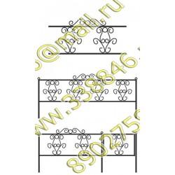 Ограда на могилу 06