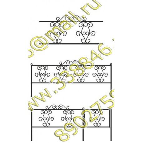 Ограда на могилу АМ5091