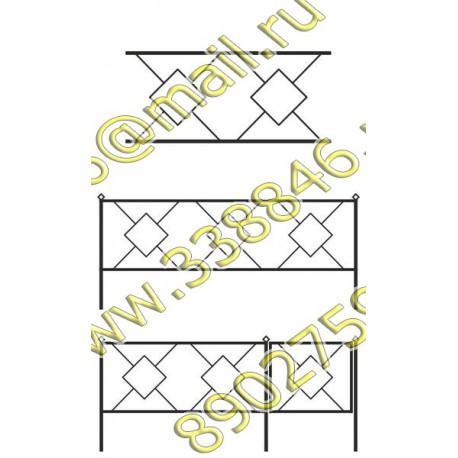 Ограда на могилу АМ5094