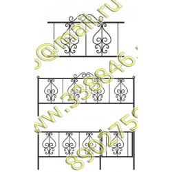 Ограда на могилу АМ5093