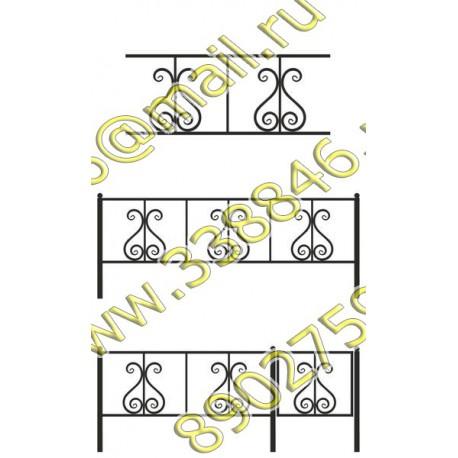 Ограда на могилу 13