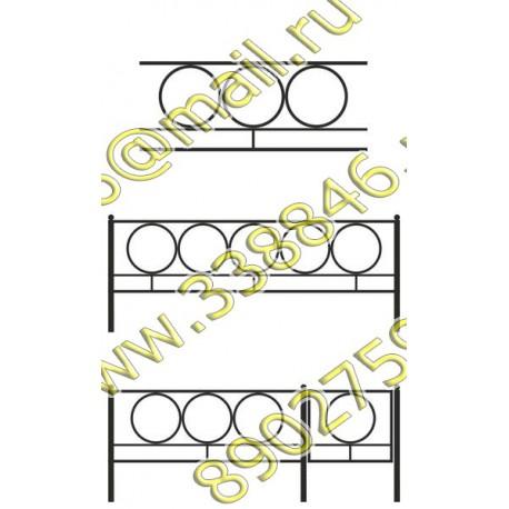 Ограда на могилу 16