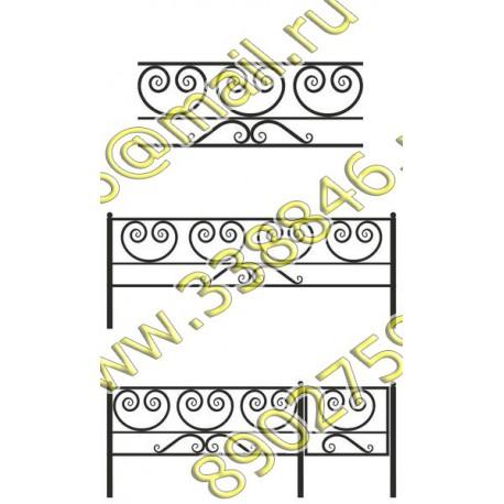 Ограда на могилу 21
