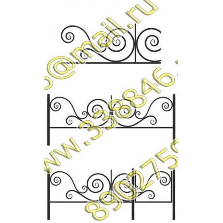 Ограда на могилу 22