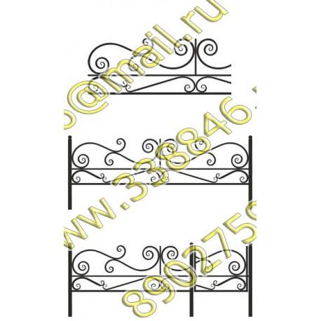 Ограда на могилу 23